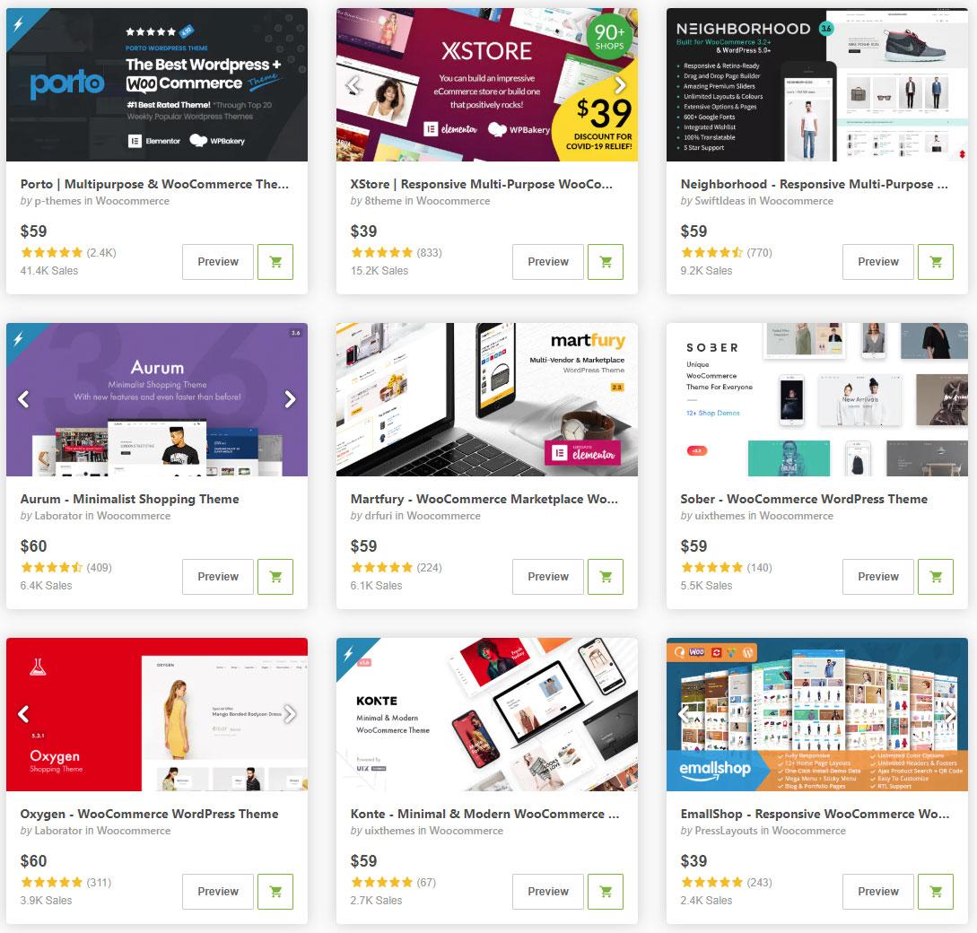 Готовые дизайн шаблоны Интернет-магазинов для платформы WooCommerce
