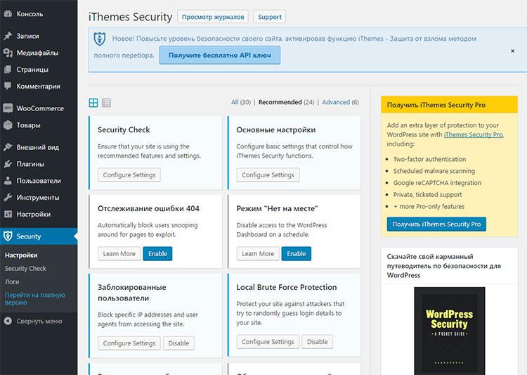 Плагин Itheme Security