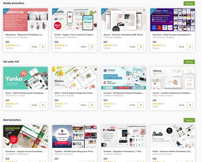 Примеры готовых дизайнов шаблонов  сайта и Интернет-магазина